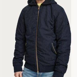 Scotch & Soda Amsterdams Blauw Jacquard Jacket